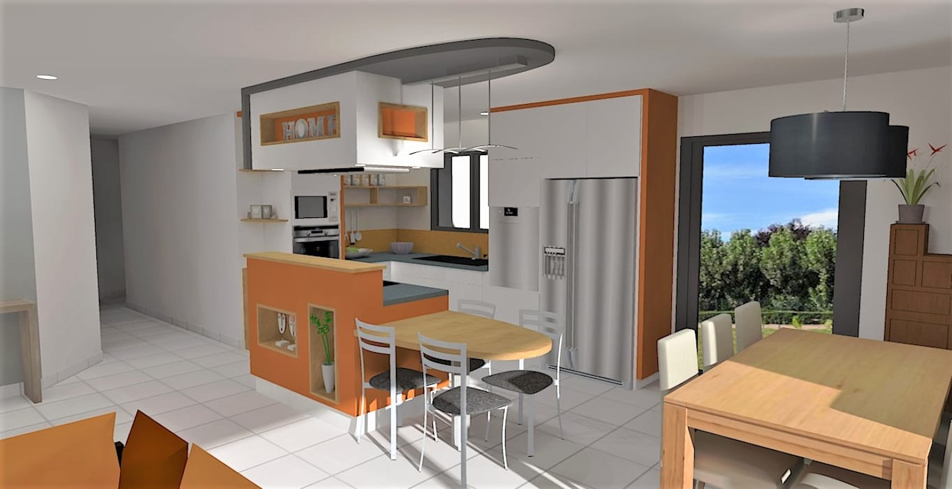 Design Salon Salle A Manger création d'un espace pièce de vie (entrée – salon – salle à