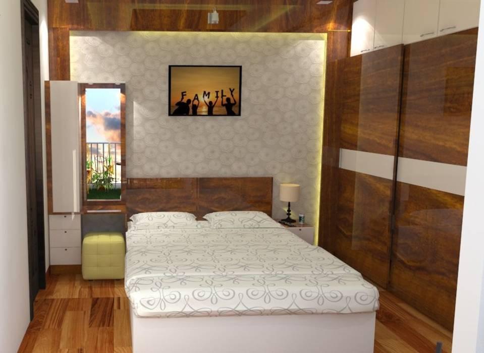 Shriyans Apartment Pune - Mr Ashish:  Bedroom by DECOR DREAMS