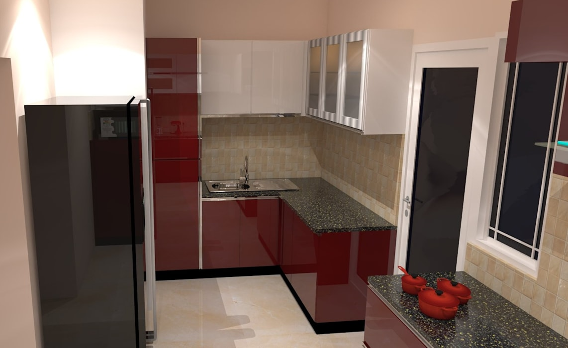 Amanora Park Pune Pent House Kitchen By Decor Dreams Homify