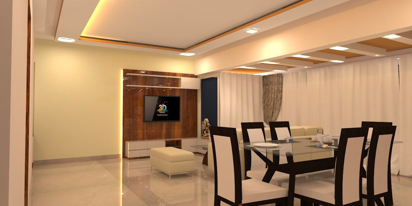 Amanora Park Pune - Pent House DECOR DREAMS Modern living room