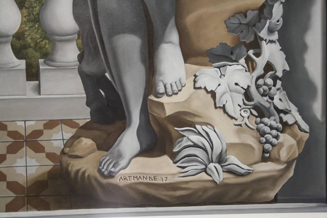"""Trompe l'oeil """"La baccante"""" Artmande ArteImmagini & Dipinti"""