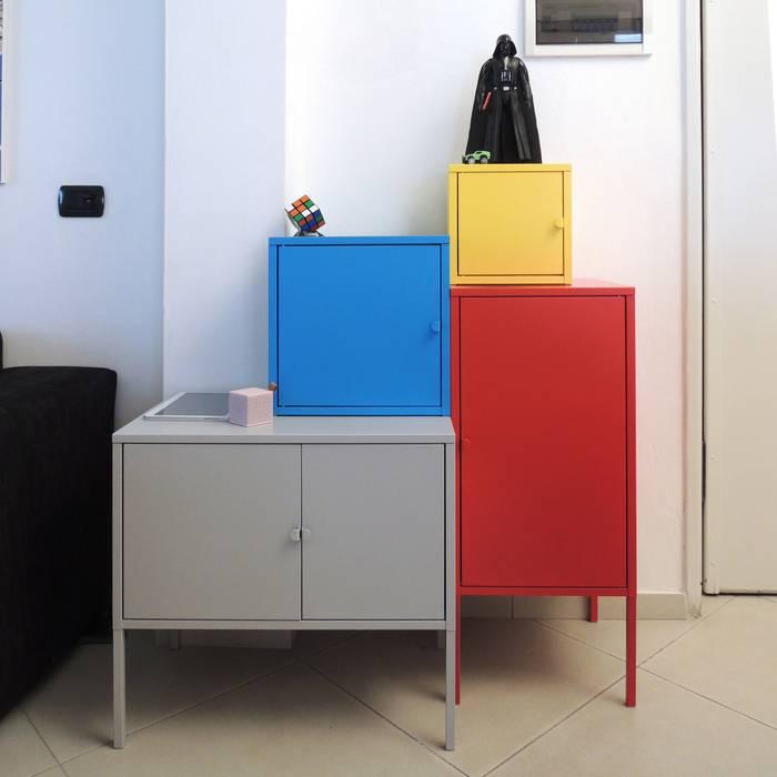 casa L: Soggiorno in stile in stile Moderno di Studio Gentile
