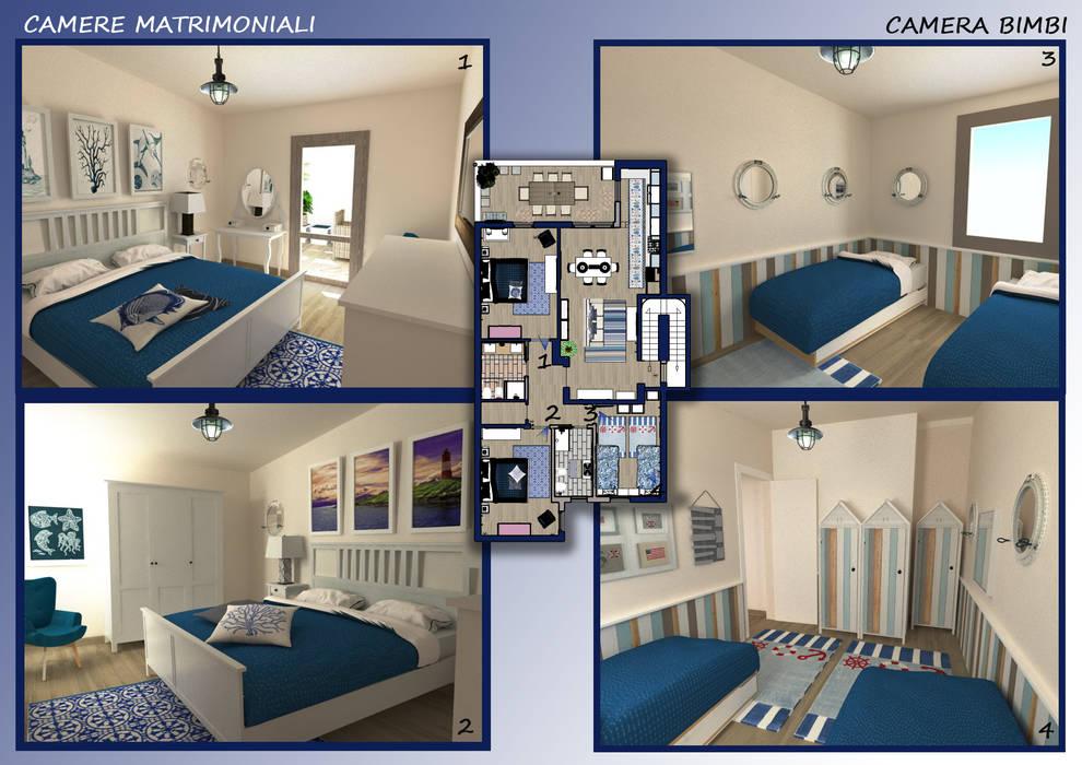 Arredare Casa Al Mare Immagini : Arredamento casa al mare: camera da letto in stile di valentina