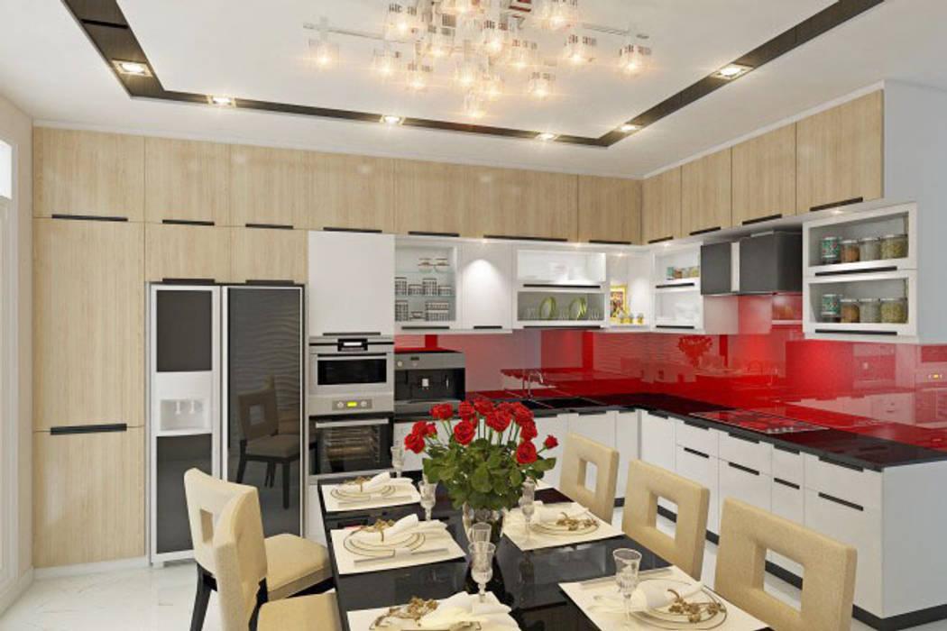 Phối cảnh nội thất tầng 2 Nhà bếp phong cách hiện đại bởi Công ty TNHH Xây Dựng TM – DV Song Phát Hiện đại