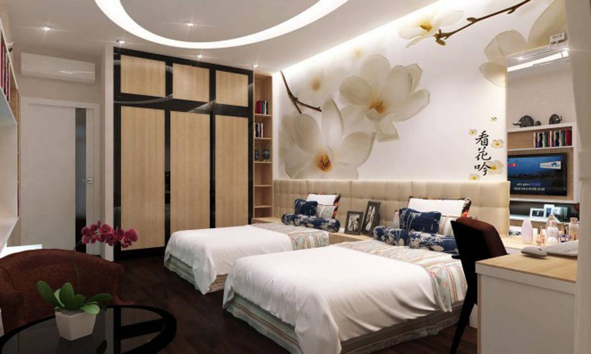 Phối cảnh nội thất tầng 2:  Phòng ngủ by Công ty TNHH Xây Dựng TM – DV Song Phát