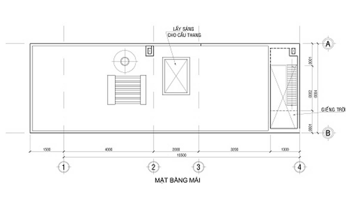 Bảng vẽ thiết kế mặt bằng nhà 2 tầng bởi Công ty TNHH Xây Dựng TM – DV Song Phát Hiện đại