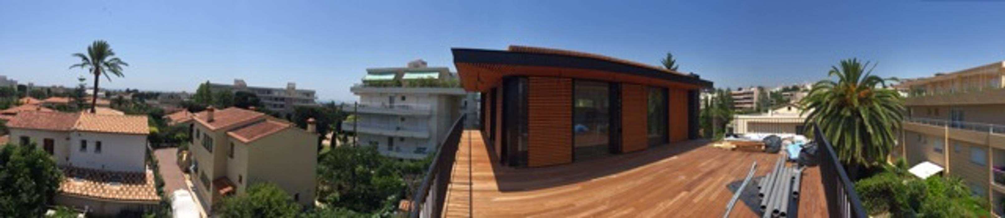 EC-BOIS | 100 projets | France + Benelux: Maisons préfabriquées de style  par EC-BOIS, Moderne Bois Effet bois