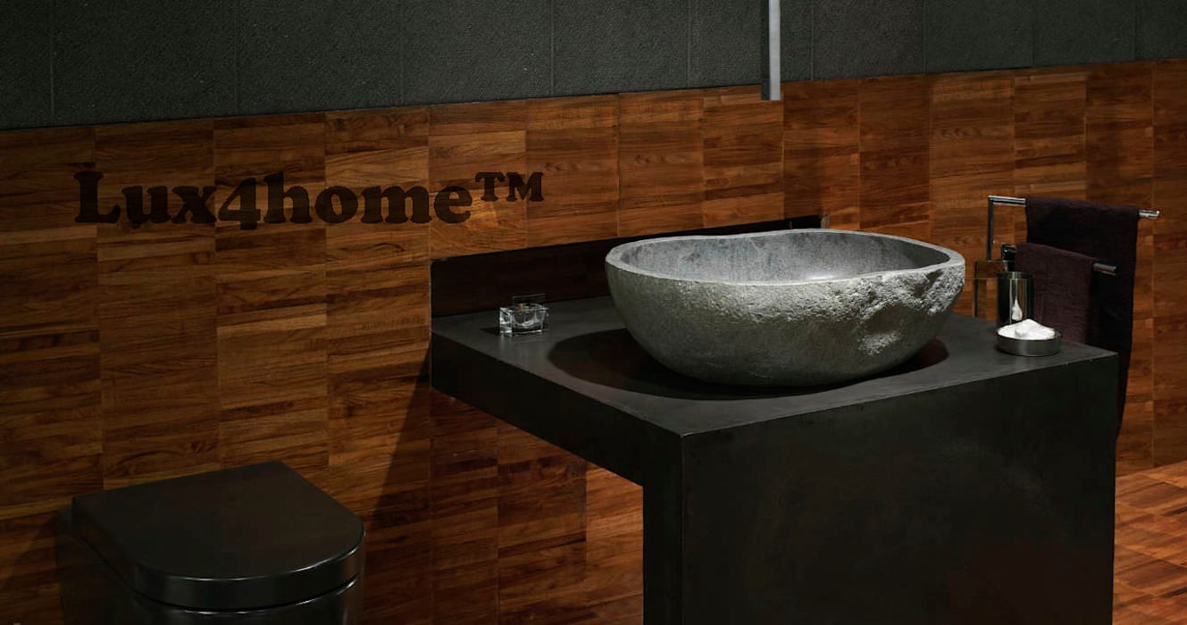 Natural stone basins river stone bathroom sink bathroom by lux4home indonesia
