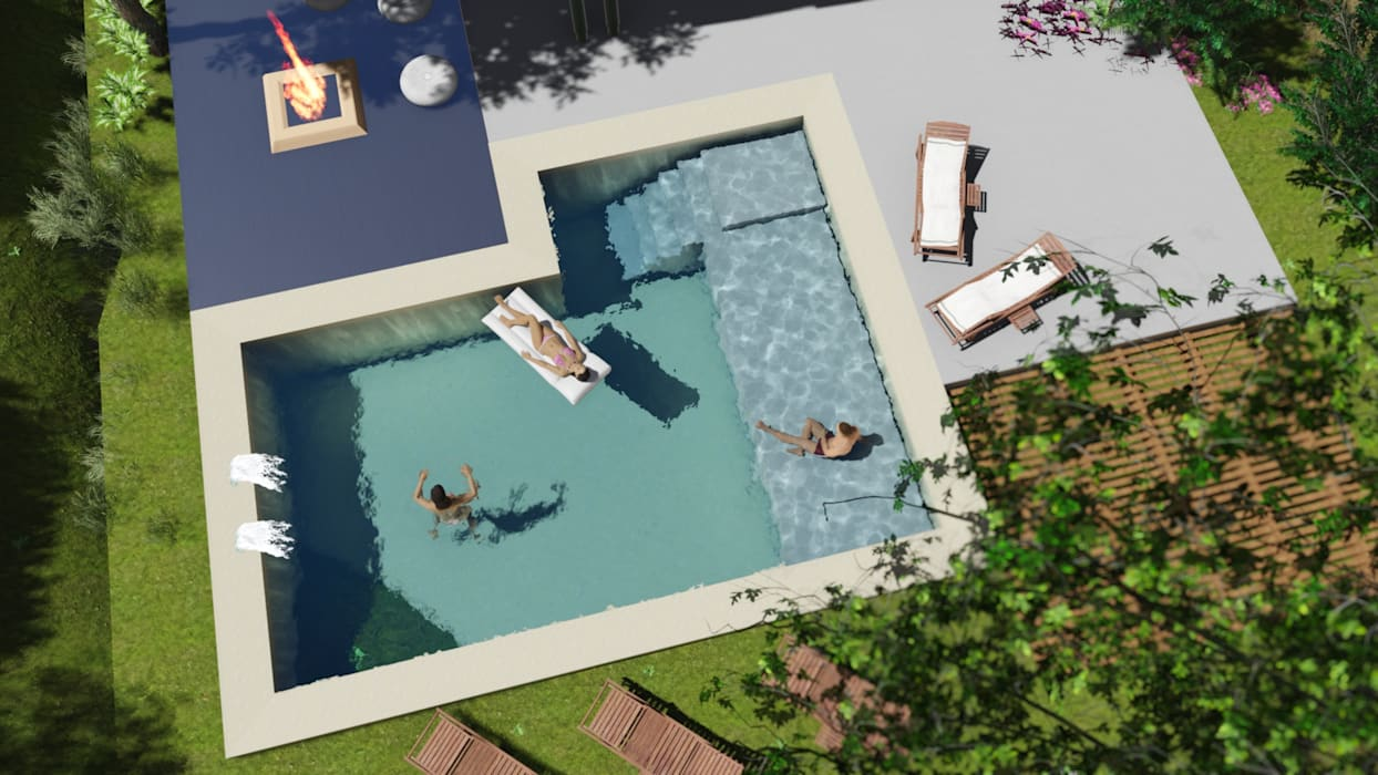 Garden Pool by Sinapsis Estudio