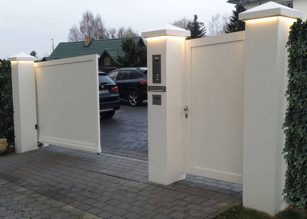 Nordzaun Taman Modern Aluminium/Seng White
