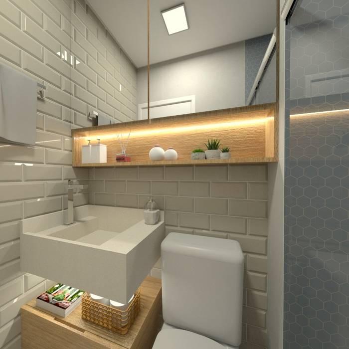 Baños de estilo  por Letícia Saldanha Arquitetura, Moderno