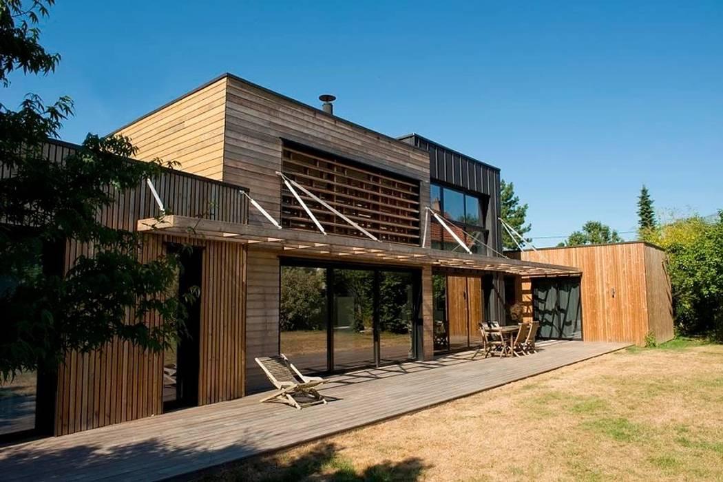 EC-Bois | Maison Laviron | Jouars-Pontchartrain par EC-BOIS Moderne Bois d'ingénierie Transparent