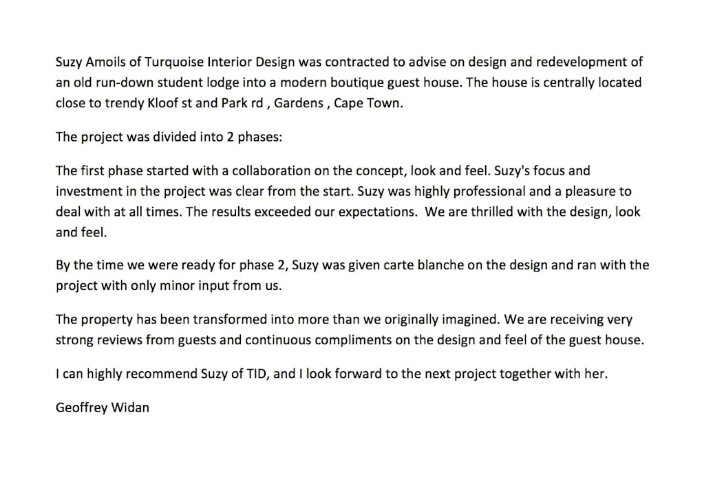 Client Review by Turquoise Modern Glass