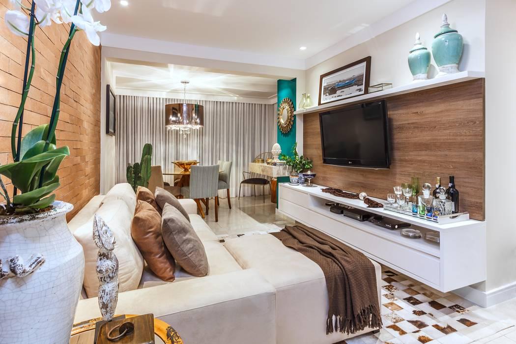 Apartamento Horizon: Salas de estar  por DUE Projetos e Design