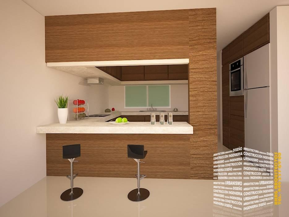Cocinas de estilo de hhrg arquitectos | homify