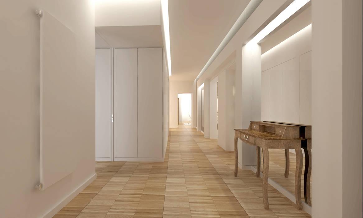ENTRANCE AND CORRIDOR: Ingresso & Corridoio in stile  di DomECO