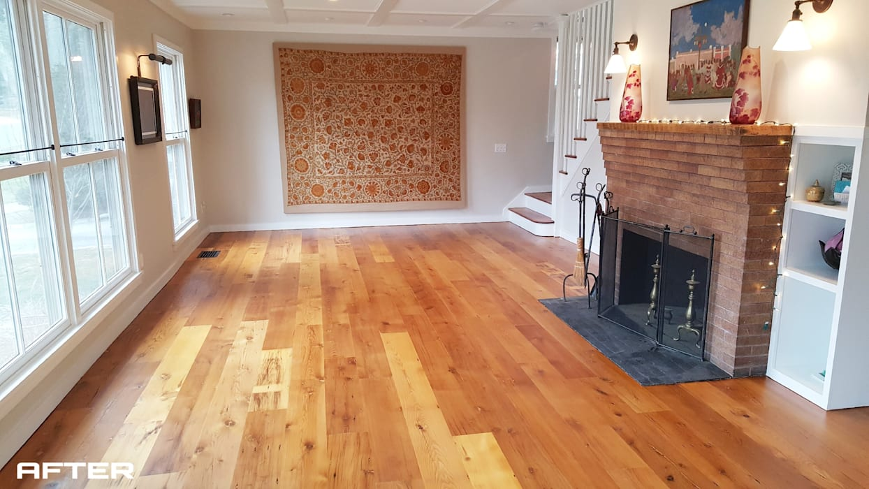 Shine Star Flooring Salas de estar rústicas