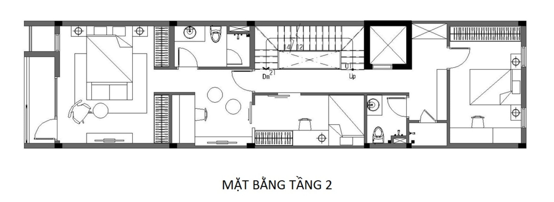 Maisons asiatiques par Công ty TNHH TK XD Song Phát Asiatique Cuivre / Bronze / Laiton