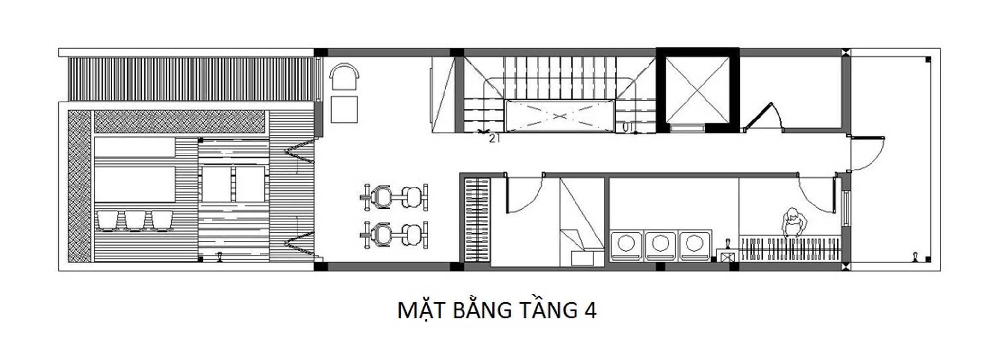 บ้านเดี่ยว โดย Công ty TNHH TK XD Song Phát, เอเชียน ทองแดง ทองสัมฤทธิ์ ทองเหลือง
