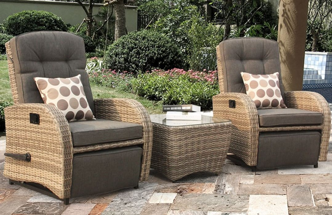 Rattan bistro set for indoors:  Garden  by Garden Centre Shopping UK