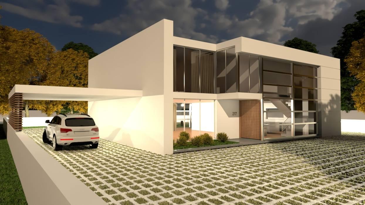 Moradia Pré-fabricada,T4 - 2 pisos. Model TP.01-T4-2P: Casas pré-fabricadas  por Arbisland Arquitectura & Design