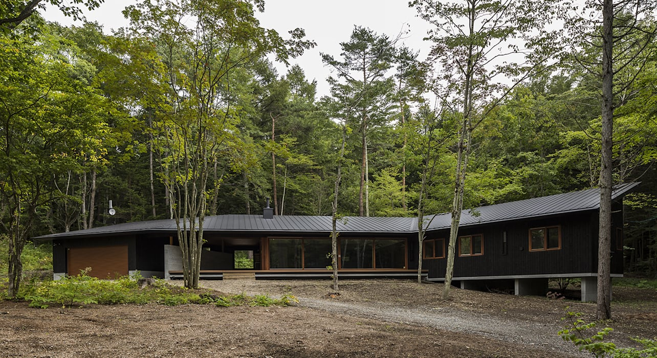 Country house by アトリエ慶野正司 ATELIER KEINO SHOJI ARCHITECTS, Eclectic Wood Wood effect