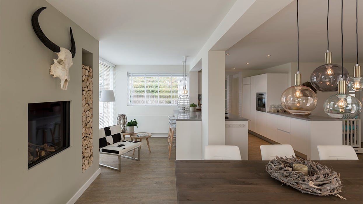 interieur woonhuis:  Serre door CHORA architecten, Modern
