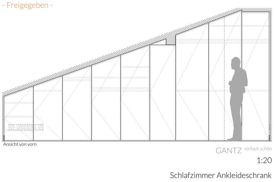 GANTZ - Einbauschrank unter Dachschräge :  Ankleidezimmer von GANTZ.de - Regale und Einbauschränke nach Maß