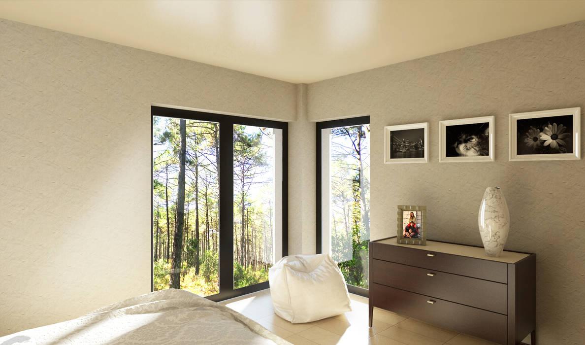 camera da letto: Camera da letto in stile in stile Moderno di 2mgdesignsolution