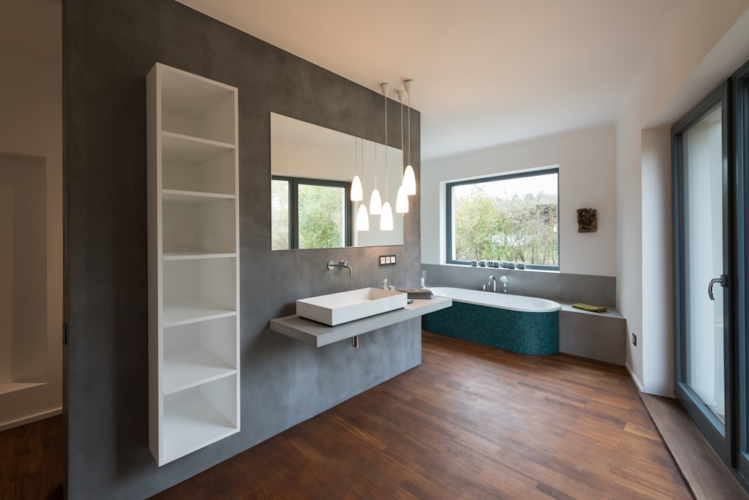 Petrol Badezimmer Von Grotegut Architekten Homify