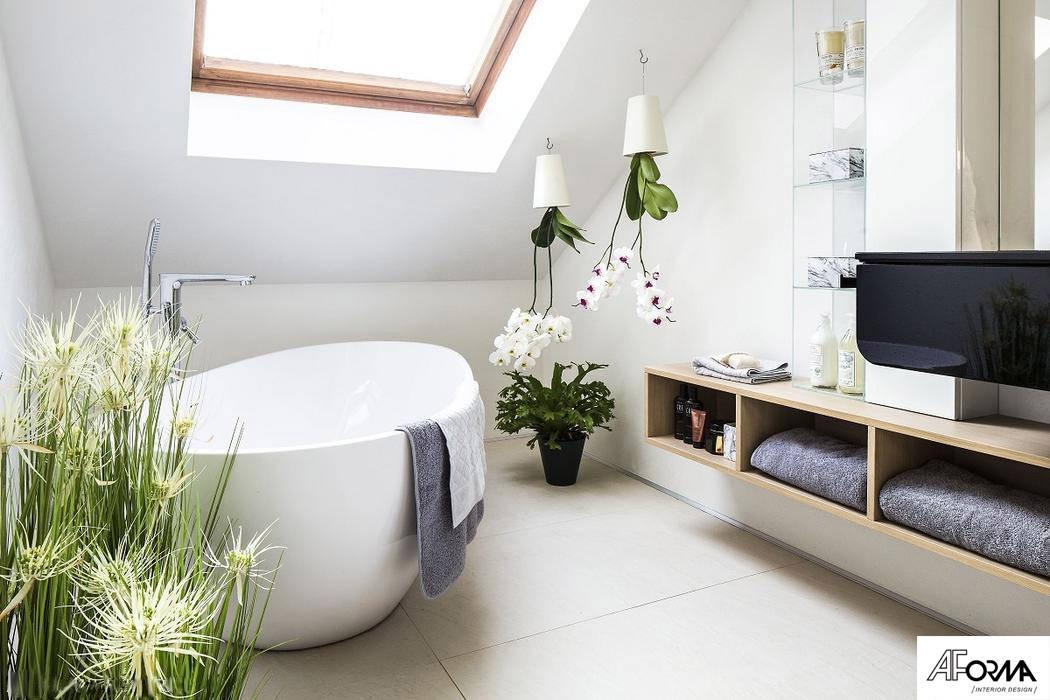 Bathroom by AFormA Architektura wnętrz Anna Fodemska