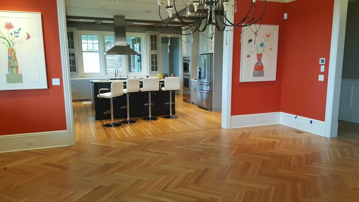 White Oak Floors Herringbone by Shine Star Flooring Classic