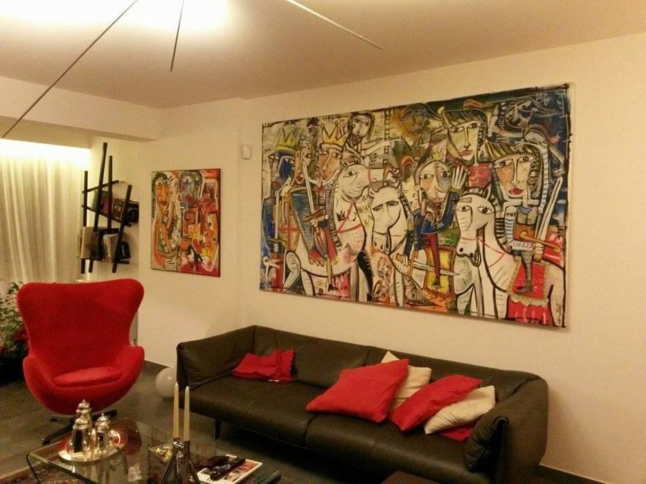 Quadro per arredamento soggiorno moderno: soggiorno in stile di ...