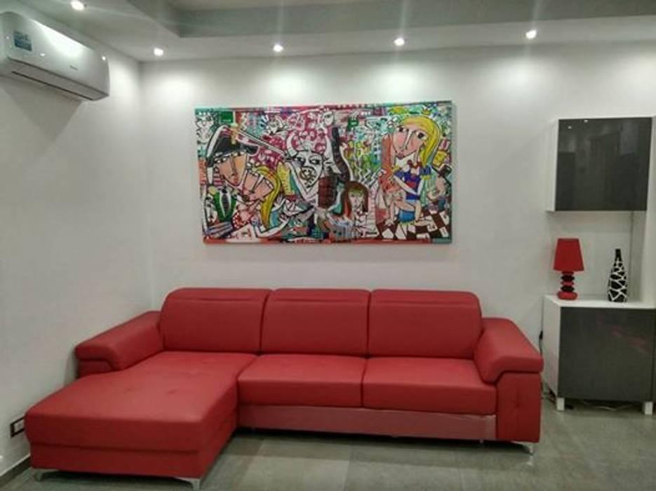 Dipinto moderno per soggiorno: arte in stile di quadri moderni di ...