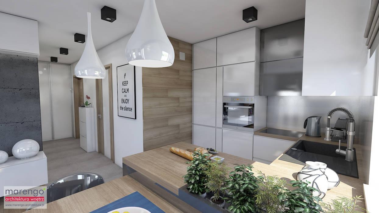 Built-in kitchens by MARENGO ARCHITEKTURA WNĘTRZ, Modern