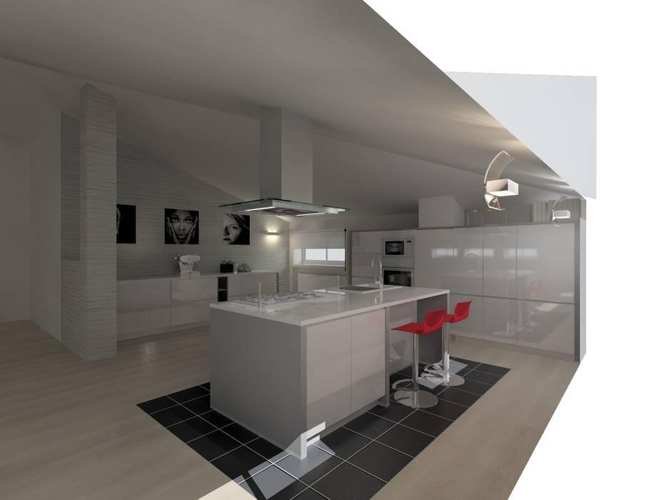 La cucina in mansarda: cucina in stile di luca riccardo ...