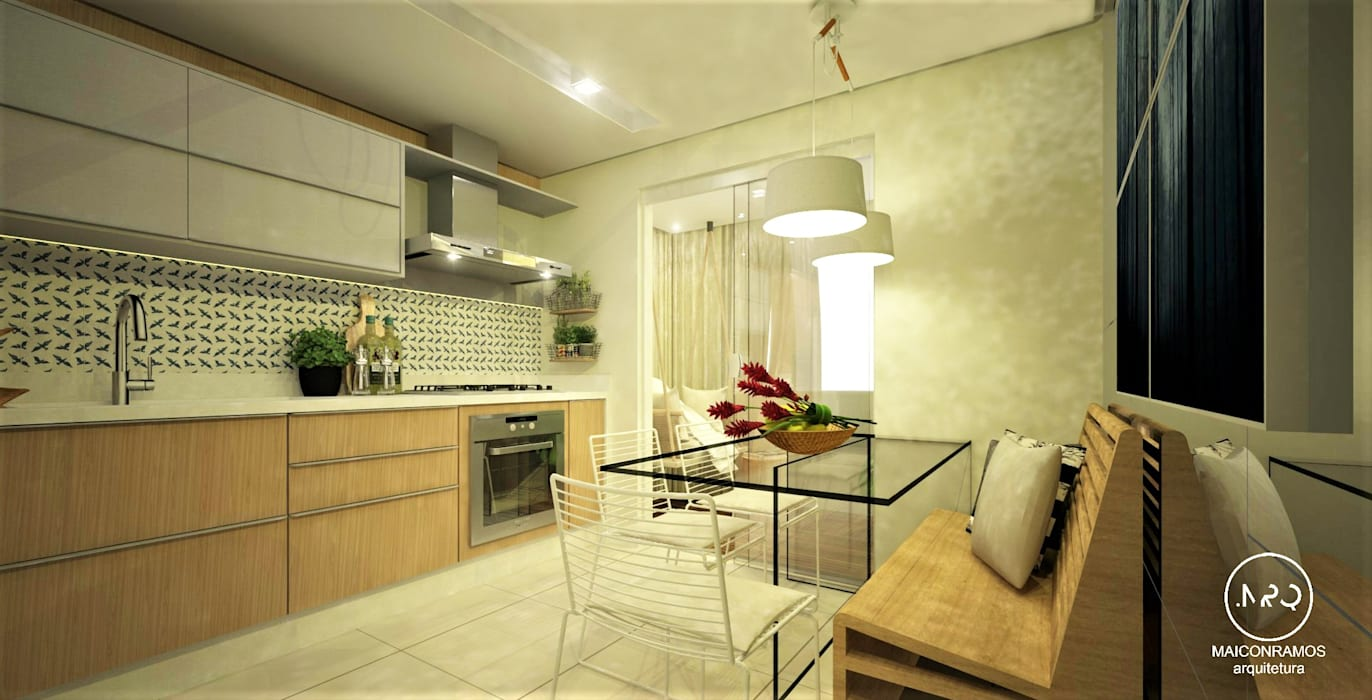 وحدات مطبخ تنفيذ Maicon Ramos arquitetura,