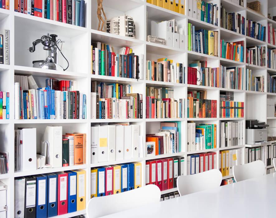 GANTZ - Regale und Einbauschränke nach Maß Bureau minimaliste Bois d'ingénierie Blanc