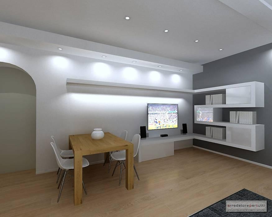 Arredare con il cartongesso soggiorno moderno di luca ...