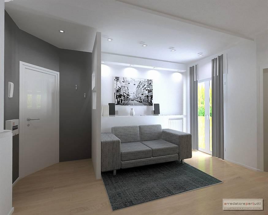 Arredare con il cartongesso ingresso corridoio in stile di luca riccardo arredatorepertutti - Parete mobile in cartongesso ...