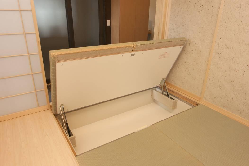 奥戸の家: (有)中尾英己建築設計事務所が手掛けた和室です。,モダン