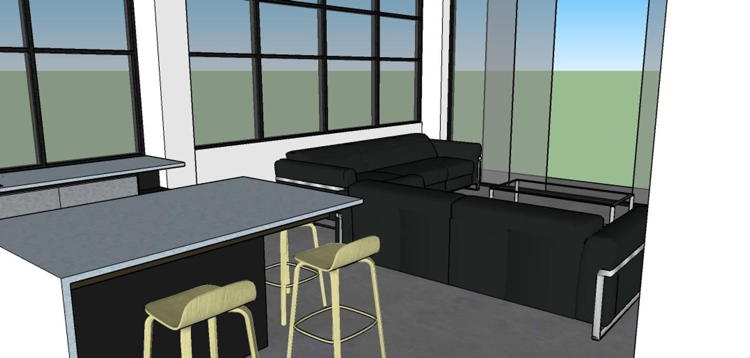 Vista parcial de la cocina: Cocinas integrales de estilo  por Proyectos Kukenán SAS, Ecléctico