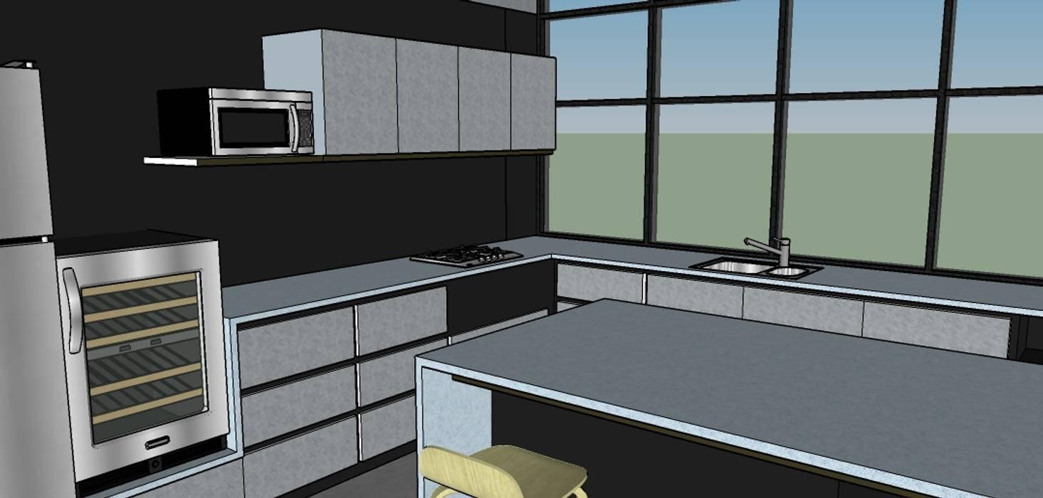 Cocina Integral: Cocinas integrales de estilo  por Proyectos Kukenán SAS