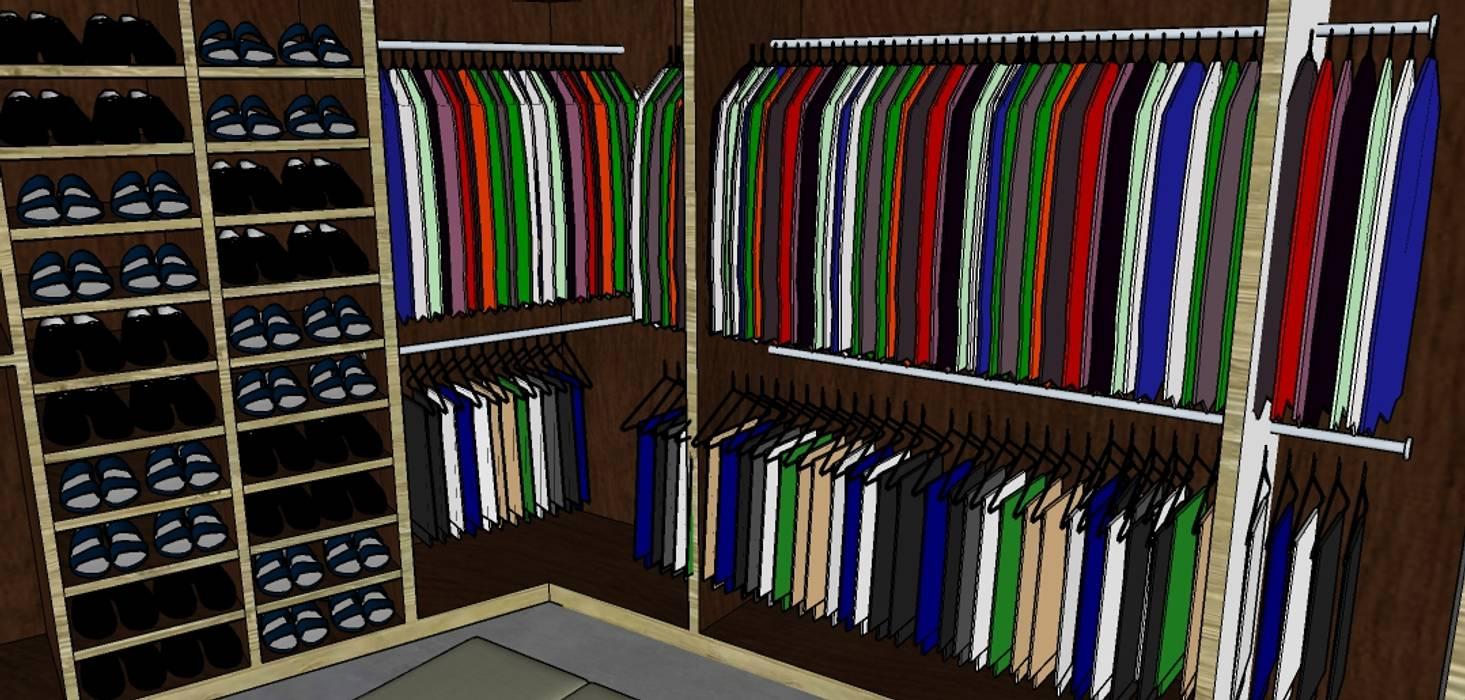 Vestier: Vestidores de estilo  por Proyectos Kukenán SAS, Ecléctico