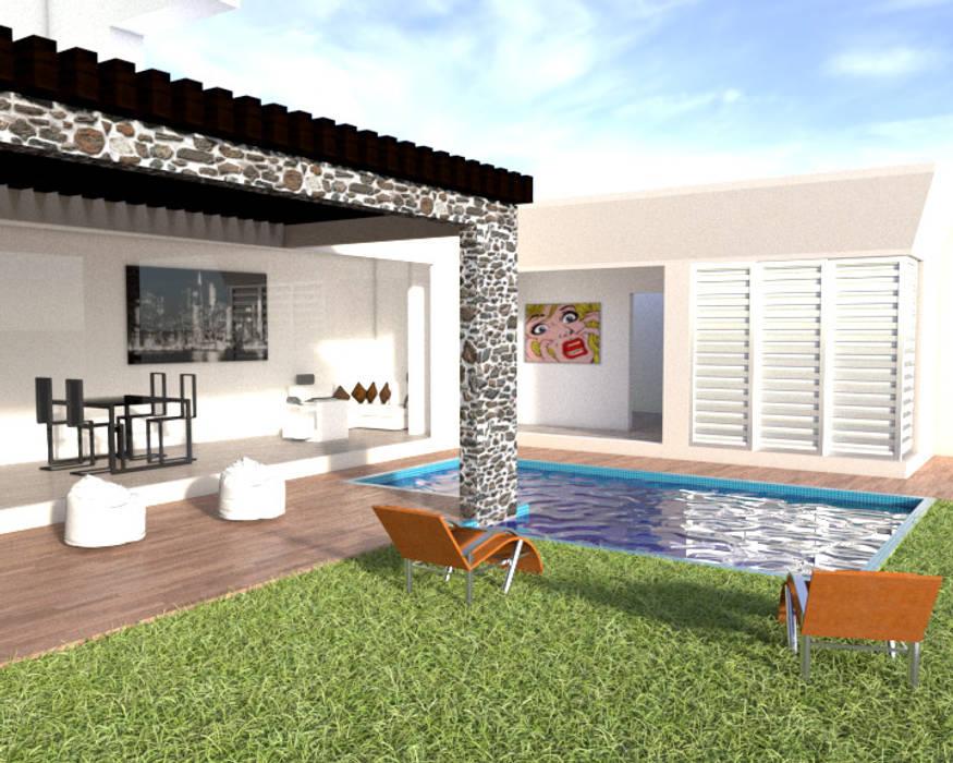Diseño exterior: Jardines de estilo  por ARCHIMINIMAL ESTUDIO