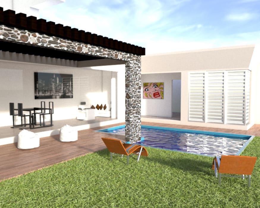 Diseño exterior Jardines de estilo minimalista de ARCHIMINIMAL ESTUDIO Minimalista