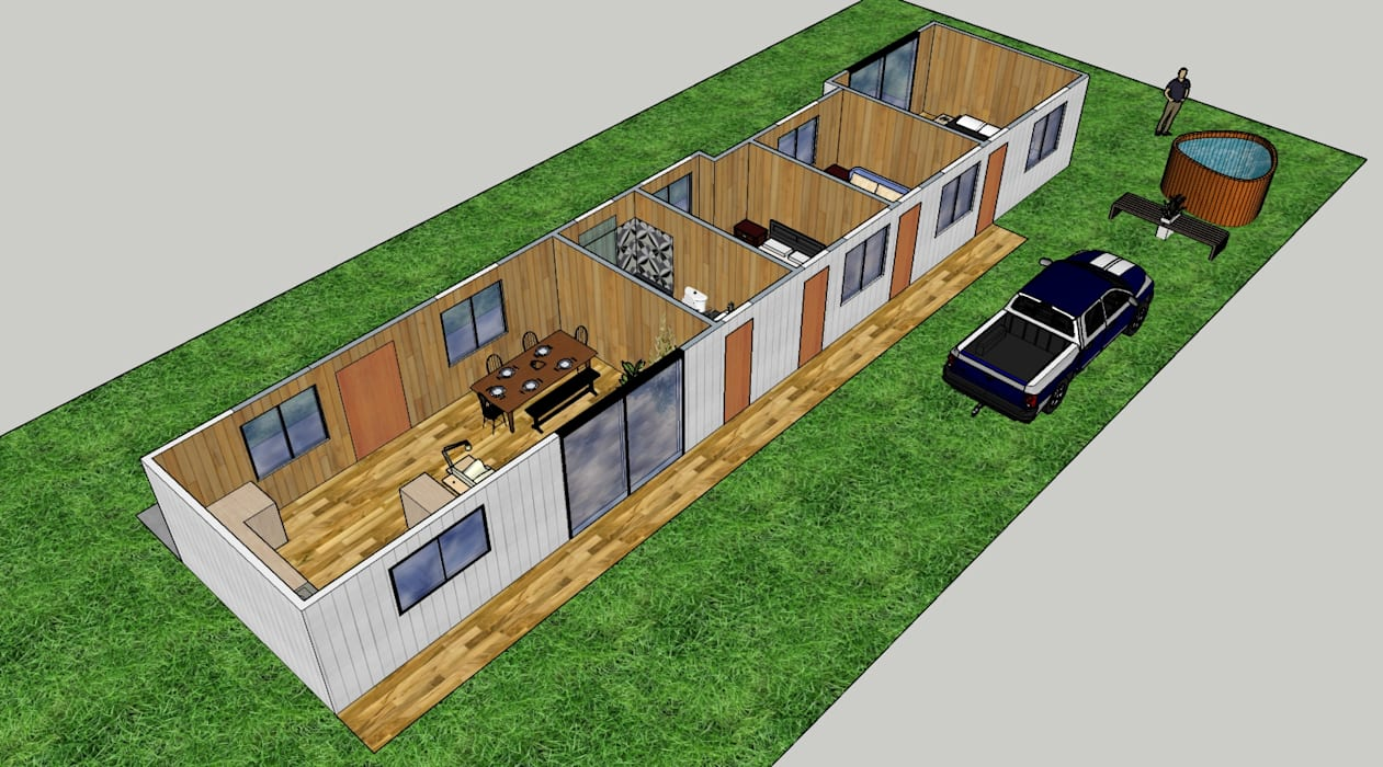 Diseño arquitectónico casa de campo de Constructora ANyG