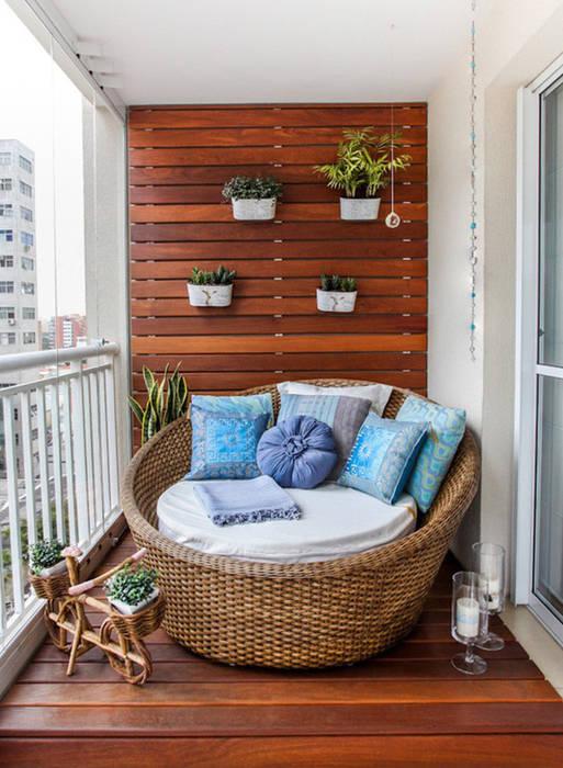 Không gian yên tĩnh thoải mái sẽ mang đến cho bạn một nơi lý tưởng để nghỉ ngơi. Hiên, sân thượng phong cách châu Á bởi Công ty TNHH TK XD Song Phát Châu Á Đồng / Đồng / Đồng thau
