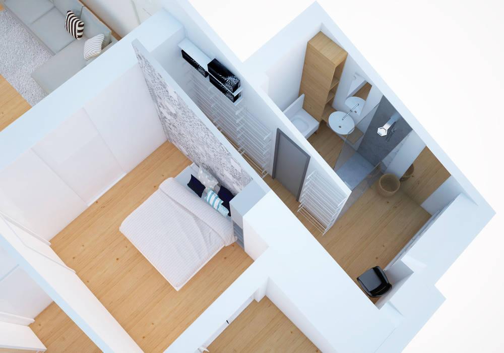 Camera da letto con cabina armadio e bagno passante: camera da letto ...