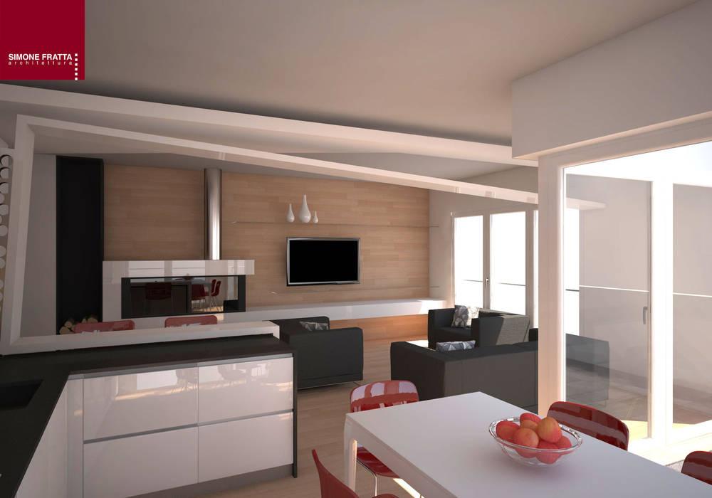 Divisorio soggiorno/cucina sala da pranzo moderna di homify ...